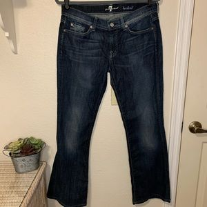 7 For All Mankind Bootcut Blue Denim Jeans